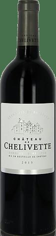 Château de Chelivette Bordeaux Supérieur AOP Rouge 2015 Merlot