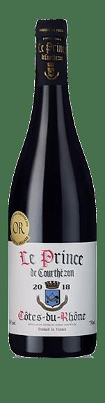Le Prince de Courthézon Côtes du Rhône 2018 Grenache 80% Grenache, 10% Mourvèdre, 10% Syrah Rhônedalen