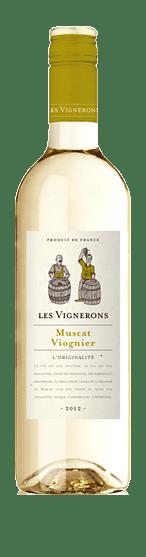 Les Vignerons Muscat Viognier 2018 Muscat Muscat, Viognier Vin de France