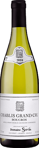 Domaine Servin Chablis Grand Cru Bougros 2010 Chardonnay