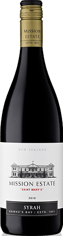 Mission Estate Saint Mary's Syrah 2010 Shiraz-Syrah