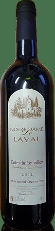 Notre Dame De Laval Côtes Du Roussillon Rouge 2012 Carignan