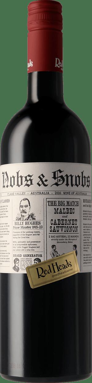 RedHeads Nobs & Snobs Malbec Cabernet Sauvignon 2016 Malbec