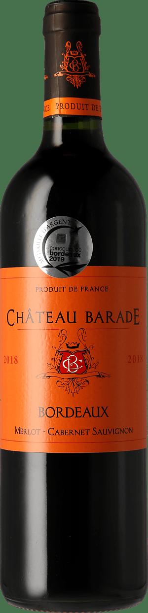 Château Barade Bordeaux AOC 2018 Merlot