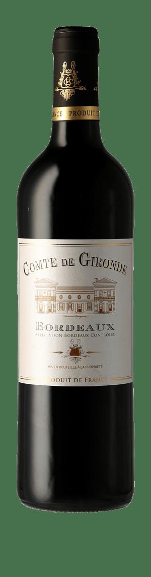 Comte de Gironde 2018 Merlot 80% Merlot, 10% Cabernet Sauvignon, 10% Cabernet Franc Bordeaux