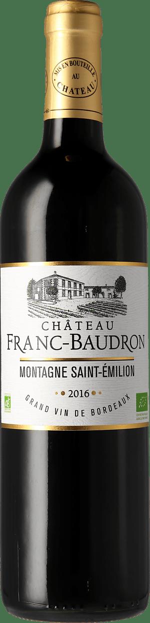 Château Franc-Baudron Montagne-Saint-Émilion 2016 Merlot