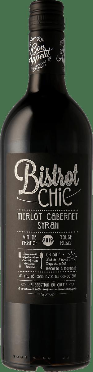 Bistro Chic Merlot Cabernet Syrah 2019 Merlot