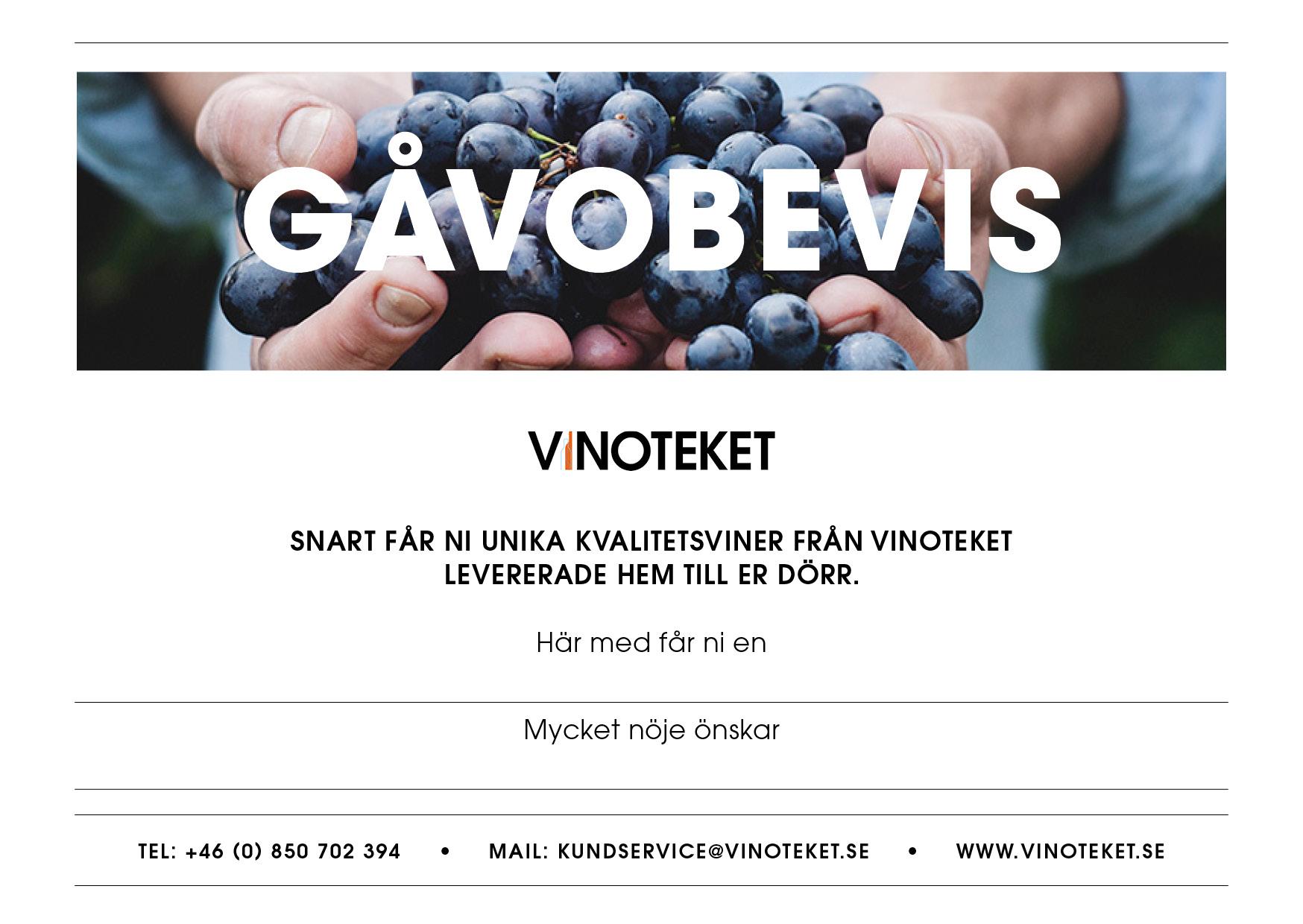 Gåvobevis för vinköp