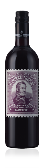 Admiral Thomas 2016 Carmenère 85% Carmenère, 15% Merlot Central Valley