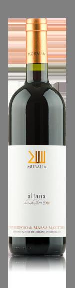 Muralia Altana Maremma 2016 Sangiovese 80% Sangiovese, 10% Cabernet Sauvignon, 10% Merlot Toscana