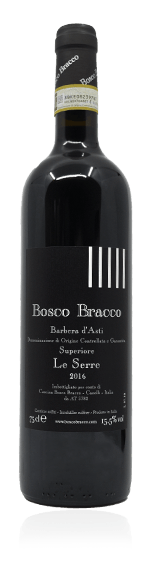 Bosco Bracco Le Serre Barbera d'Asti Superiore 2016 Barbera 97% Barbera, 3% Dolcetto Piemonte