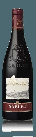 vin Cave de Sablet Le Gravillas Sablet rouge 2016 Grenache