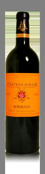 vin Chateau Barade Bordeaux AOC 2015 Merlot
