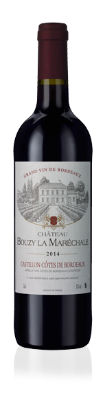 vin Château Bouzy La Marechale Castillon 2014 Merlot