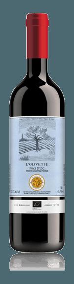 Château Caraguilhes Olivette Rouge 2018 Grenache 40% Grenache, 40% Merlot, 20% Syrah Languedoc-Roussillon