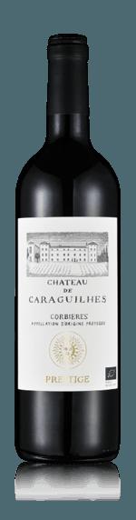 Château Caraguilhes Prestige Rouge 2017 Shiraz-Syrah 40% Syrah, 40% Carignan, 15% Cinsaut, 5% Mourvedre Languedoc-Roussillon