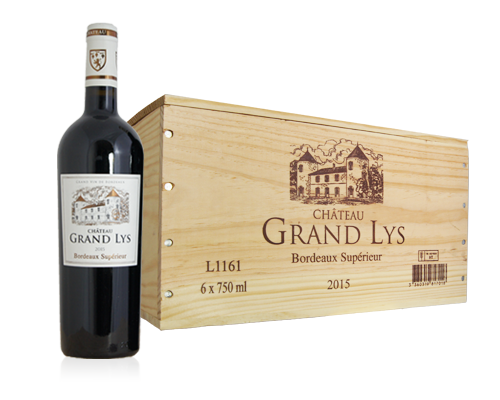 Chateau Grand Lys 2015 (6 flaskor i trälåda)