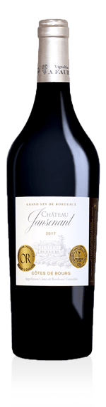 Château Jansenant Côtes de Bourg 2017 Merlot 65% Merlot 35 % Cabernet Sauvignon Bordeaux