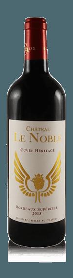vin Château Le Noble Cuvée Héritage Bordeaux Supérieur AOP rouge 2015 Merlot