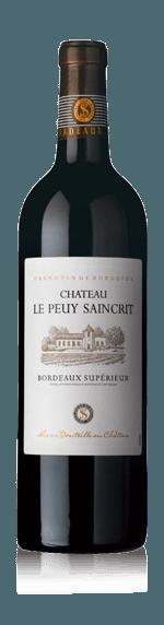 vin Château Le Peuy Saincrit Bordeaux Superieur 2015 Merlot