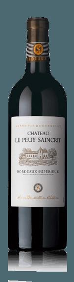 vin Château Le Peuy Saincrit Bordeaux Superieur 2016 Merlot