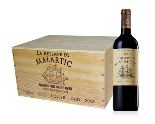 Château Malartic 2015 Pessac-Lèognan (6 flaskor i trälåda)
