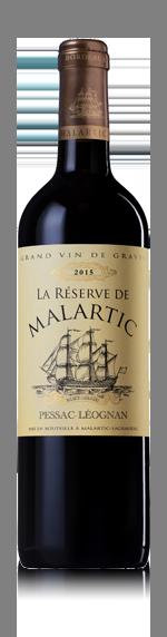 La Réserve de Malartic 2015 Pessac-Lèognan (i trälåda) Merlot 45% Merlot, 45% Cabernet Sauvignon, 8% Cabernet Franc, 2% Petit Verdot Bordeaux