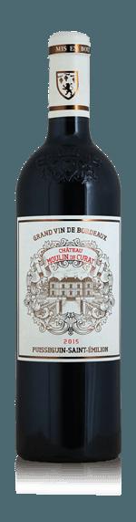 vin Château Moulin de Curat Pusseguin St Emilion 2015 Merlot