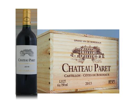 Chateau Paret 2015 (6 flaskor i trälåda)