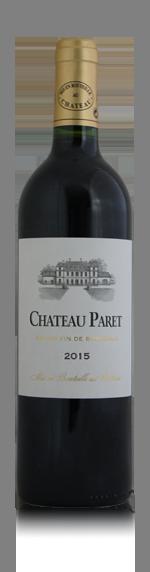 Chateau Paret 2015 (i trälåda) Merlot 85% Merlot, 10% Cabernet Sauvignon, 5% Cabernet Franc Bordeaux