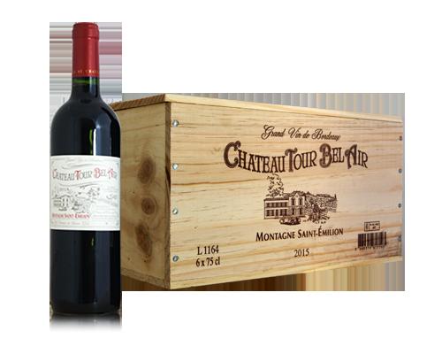 Château Tour Bel Air 2015 (6 flaskor i trälåda)