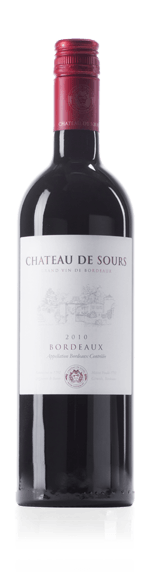 Château de Sours Bordeaux Supérieur 2014  Merlot 74% Merlot, 21% Petit Verdot, 5% Cabernet Sauvignon Bordeaux