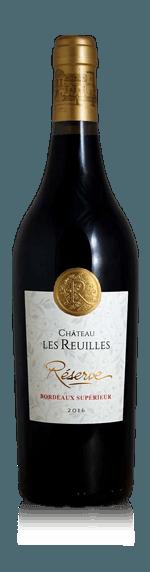 Chateau les Reuilles Bordeaux Superieur Réserve 2016 (6 flaskor i trälåda) Merlot 80% Merlot, 15% Cabernet Sauvignon, 5% Malbec Bordeaux