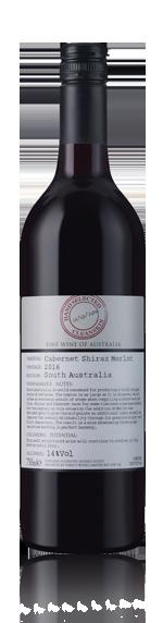 vin Cleanskin Cab Shiraz Merlot 2016 Cabernet Sauvignon