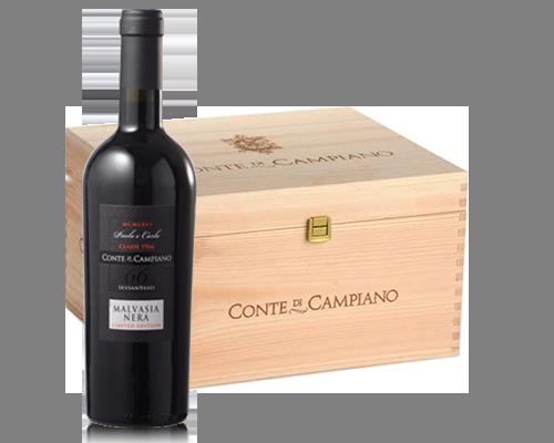 Conte Di Campiano Malvasia Nera 2014 (6 flaskor i trälåda)