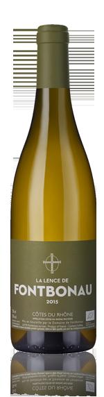 vin Domaine Fontbonau Cdr La Lence Blanc 2015 Viognier