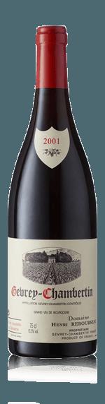 vin Domaine Henri Rebourseau Gevry Chambertin AOC rouge 2001 Pinot Noir