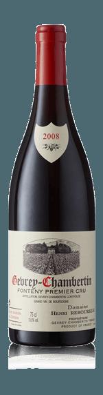 vin Domaine Henri Rebourseau Gevry Chambertin Fonteny 1er Cru AOC 2008 Pinot Noir
