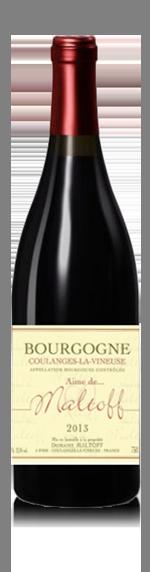 vin Domaine Maltoff Cuvée Aime Rouge 2013 Pinot Noir