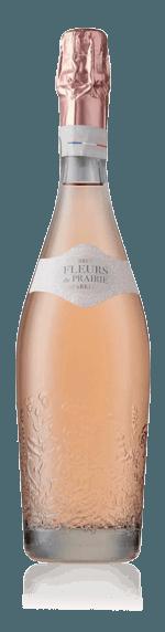 Fleurs de Prairie Brut Rosé Cinsault 45% Cinsault, 45% Grenache, 10% Muscat Vin de France