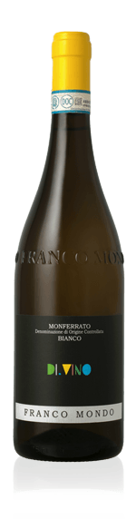 "Franco Mondo Monferrato Bianco ""DI.VINO"" 2017 Cortese 33% Cortese, 33% Favorita, 33% Chardonnay Piemonte"