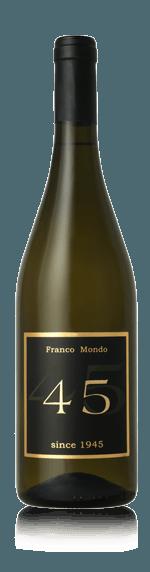 "Franco Mondo Vino Bianco ""45"" 2018 Annan Lokal druvblend Piemonte"