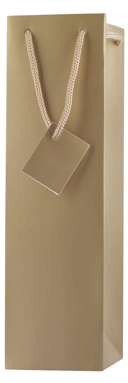 Gåvopåse I Guld Utan Fönster (1 Flaska)