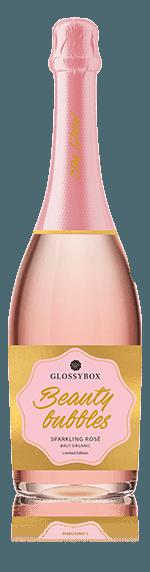 Glossybox Beauty Bubbles Sparkling Rosé Brut Organic Ekologiska druvsorter  Ekologiska druvsorter från norra Italien Venetien
