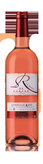 vin La Rosee De Ramage Bordeaux Rose Aoc 2015 Merlot