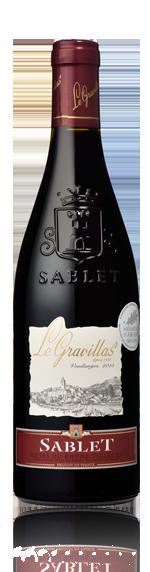 vin Le Gravillas Sablet rouge 2015 Grenache