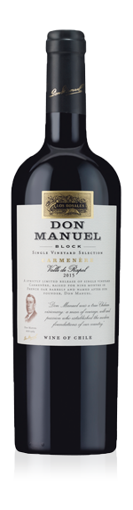 vin Los Rosales Don Manuel Block Single Vineyard Selection Carmenère 2015 Carmenère