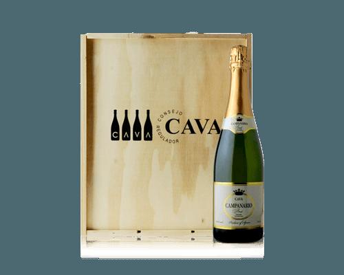 Cava Campanario Brut NV (3 flaskor i trälåda)