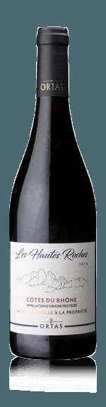 Ortas Les Hautes Roches 2018 Grenache 70% Grenache, 20% Syrah, 10% Carignan Rhônedalen