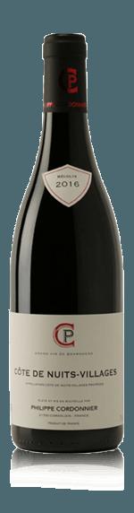 vin Philippe Cordonnier Côte de Nuits Village AOC rouge 2016 Pinot Noir